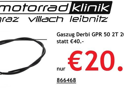 Gaszug Derbi GPR 50 2T 2009-2013 statt €40.- nur €20.-
