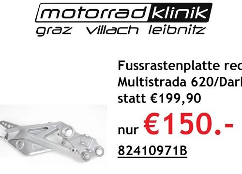 Fussrastenplatte rechts Multistrada 620 / Dark statt € 199,90 nur € 150.-