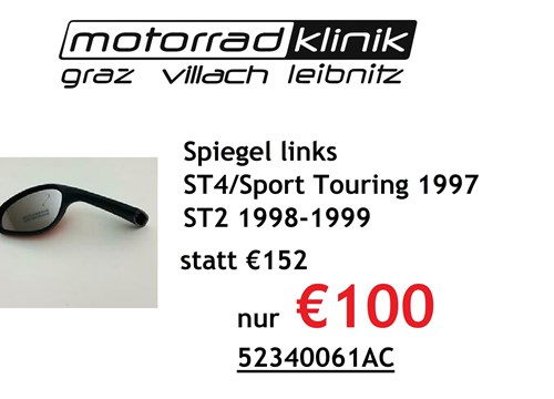 Spiegel links Sport Touring 1997 ST2 1998-1999 ST4