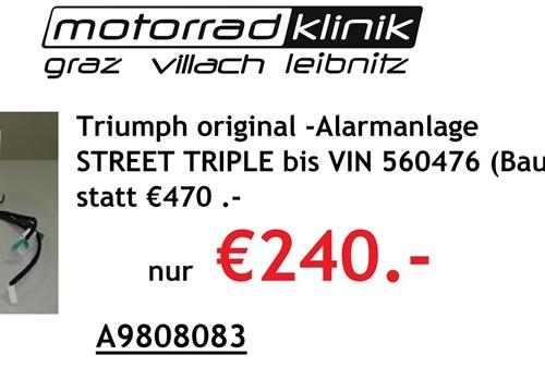 Alarmanlage STREET TRIPLE bis VIN 560476 (Baujahr 2013) statt €470 nur €240.-
