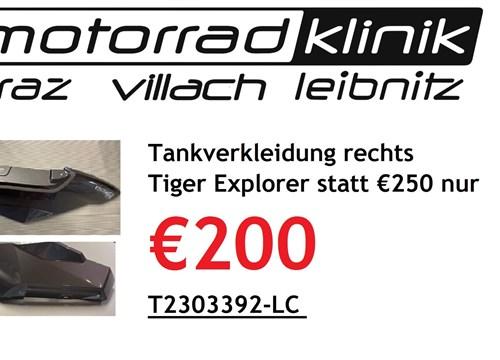 Tankverkleidung rechts Tiger Explorer statt €250 nur €200