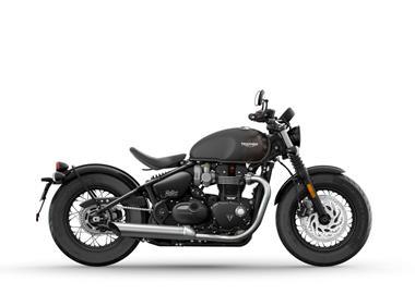 Leihmotorrad Triumph Bonneville Bobber Black