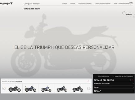 Configurador Triumph DISEÑO INDIVIDUAL