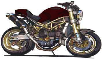 Ducati Monster 1000 S Custom Bike