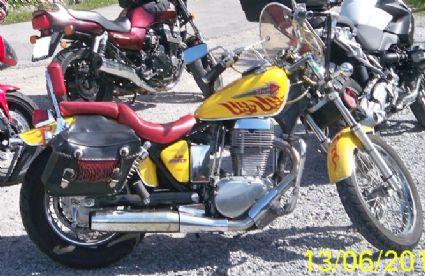 Umgebautes Motorrad Suzuki LS 650 Von Allgoho