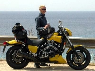 Umgebautes Motorrad Yamaha V Max VMX 1200 Von Vmax Lady