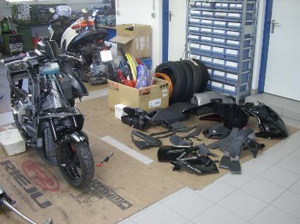 Umgebautes Motorrad Derbi Gp1 L Seat 125 Von Kurt Hubeny E