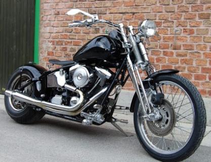 umgebautes motorrad harley davidson custom bike von hk. Black Bedroom Furniture Sets. Home Design Ideas