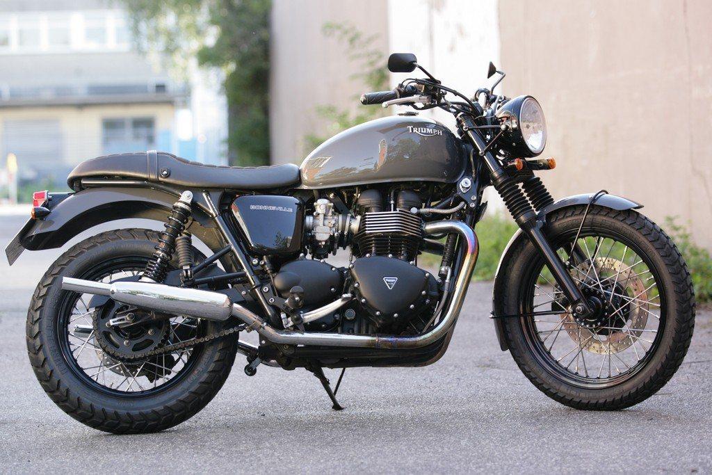 umgebautes motorrad triumph bonneville t100 von q bike technik gmbh. Black Bedroom Furniture Sets. Home Design Ideas