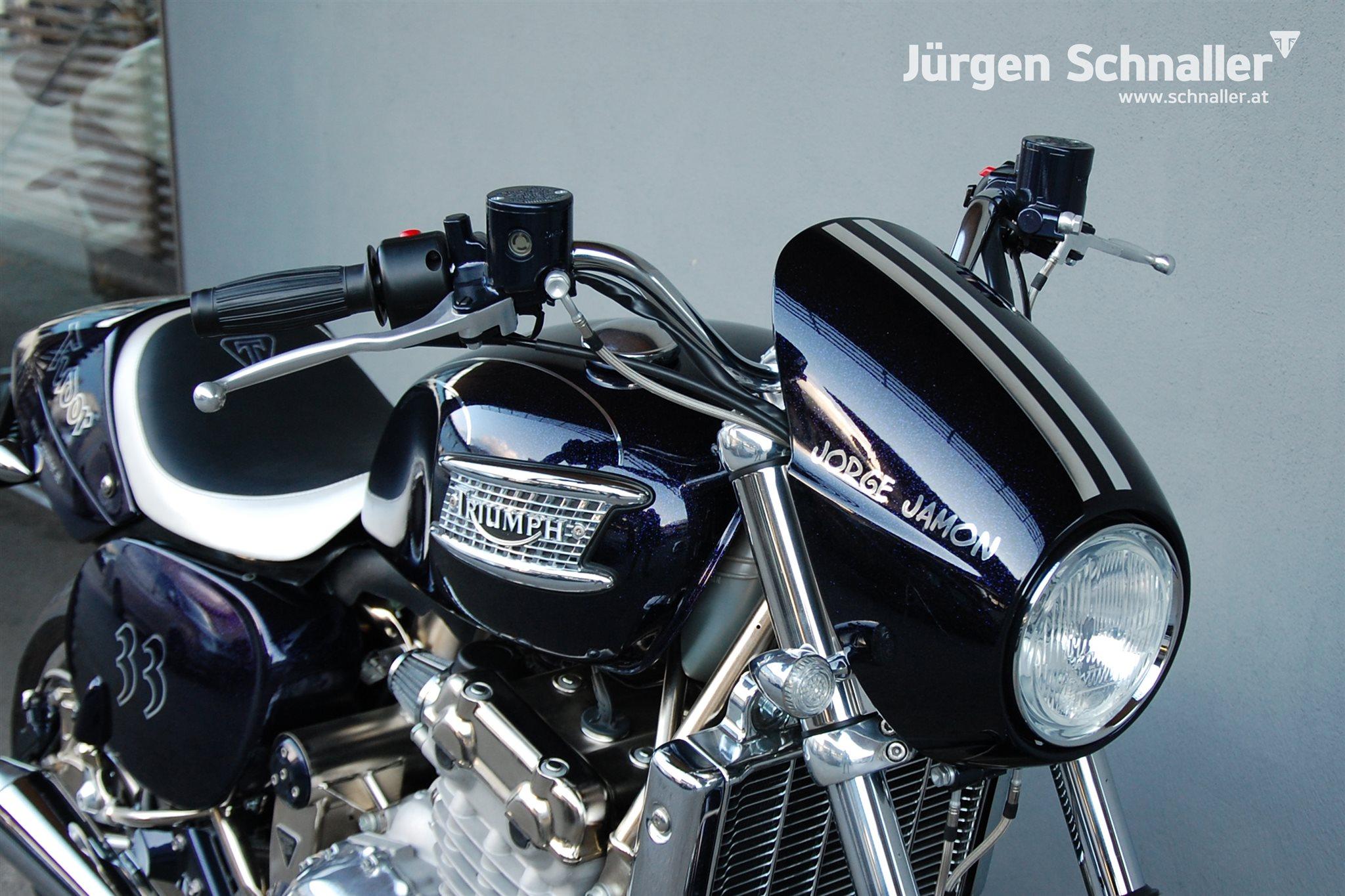 umgebautes motorrad triumph thunderbird sport von j rgen. Black Bedroom Furniture Sets. Home Design Ideas