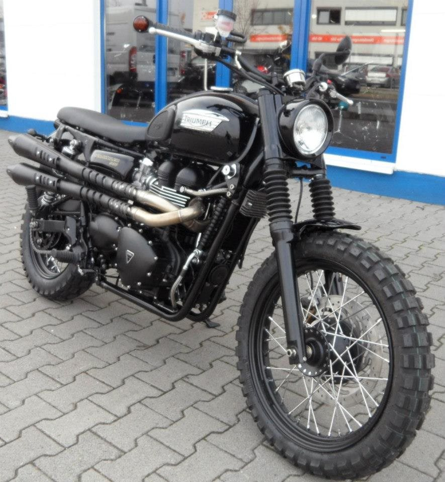 umgebautes motorrad triumph scrambler von stefan k mpel. Black Bedroom Furniture Sets. Home Design Ideas