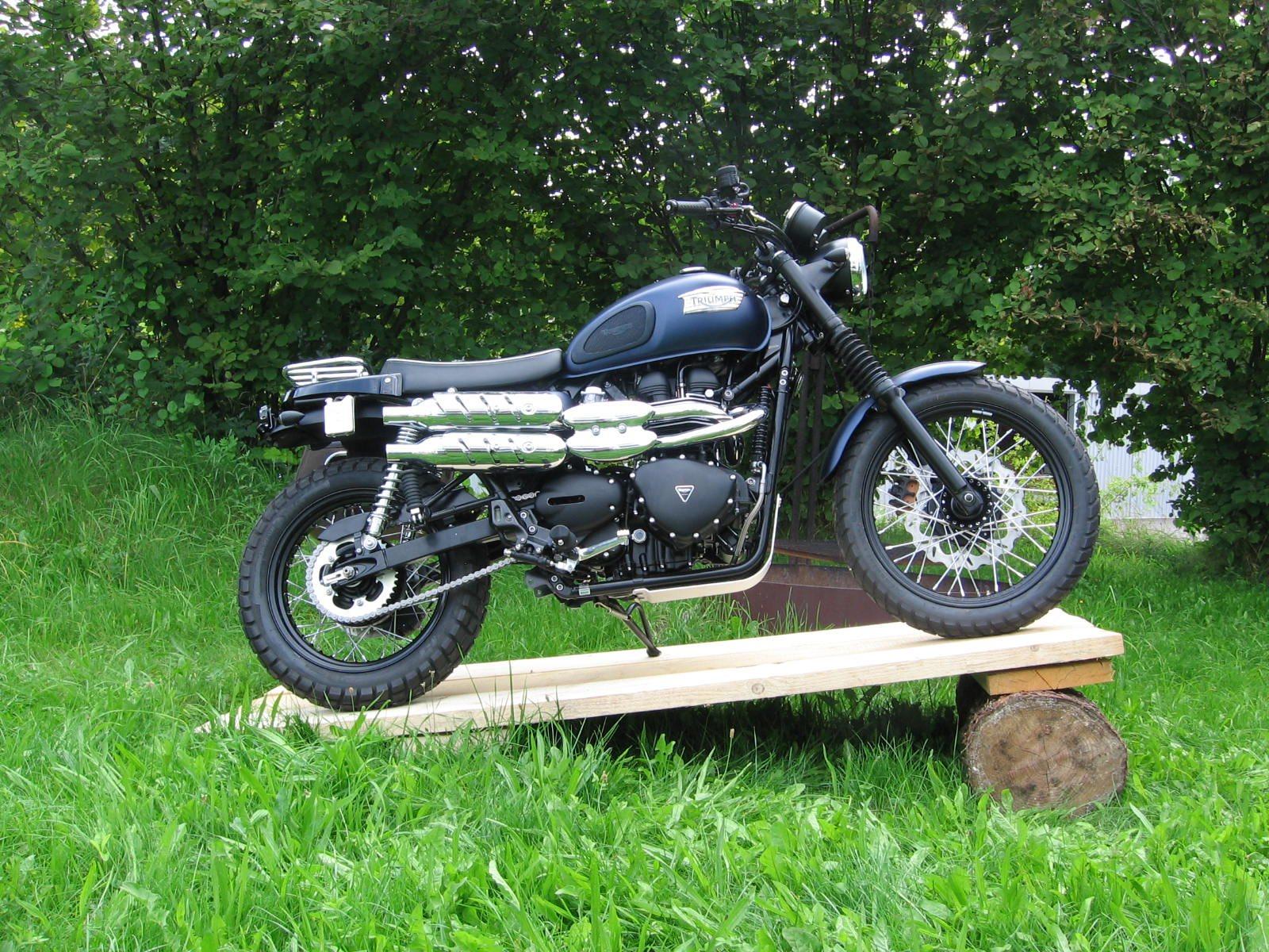 umgebautes motorrad triumph scrambler von sbf triumph bikes parts gmbh co kg. Black Bedroom Furniture Sets. Home Design Ideas