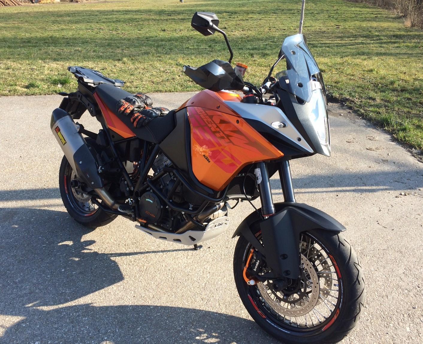 umgebautes motorrad ktm 1190 adventure steina90