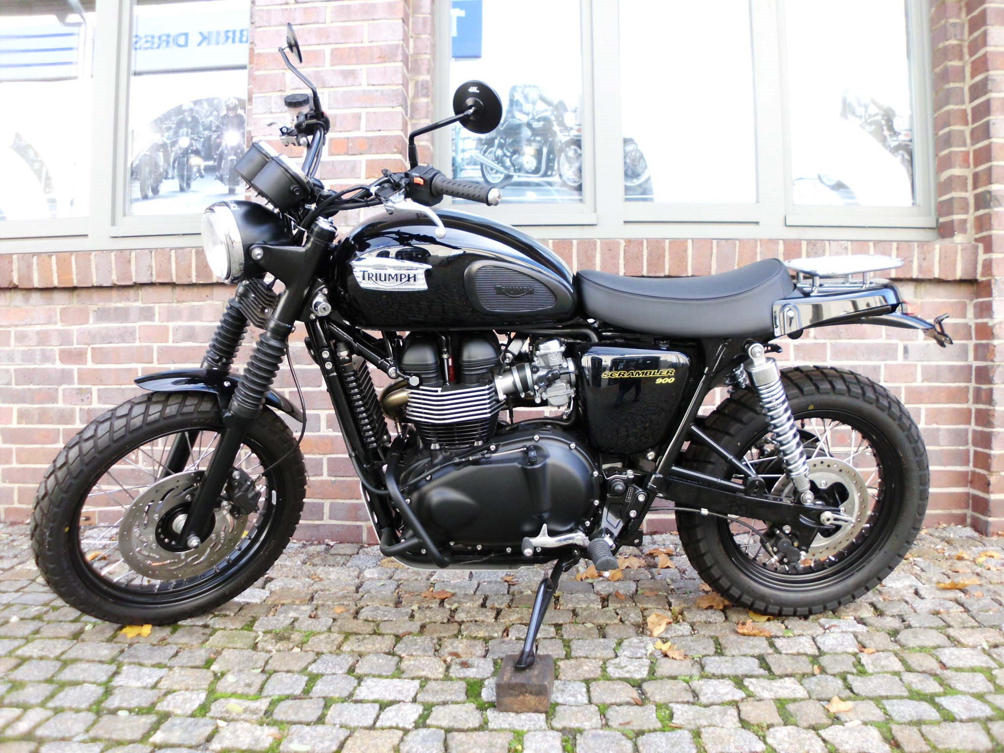 umgebautes motorrad triumph scrambler von kehl klingenberger gbr. Black Bedroom Furniture Sets. Home Design Ideas