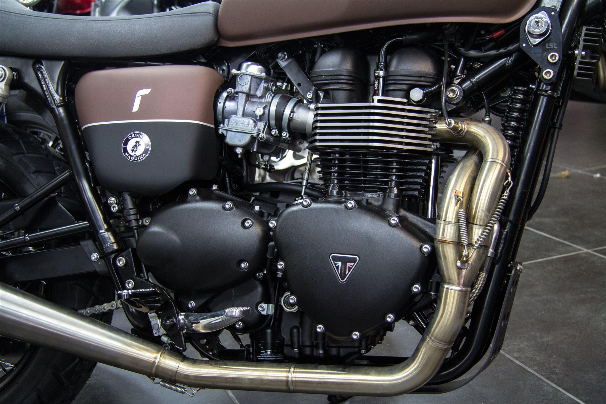 umgebautes motorrad triumph bonneville t100 von maquina. Black Bedroom Furniture Sets. Home Design Ideas