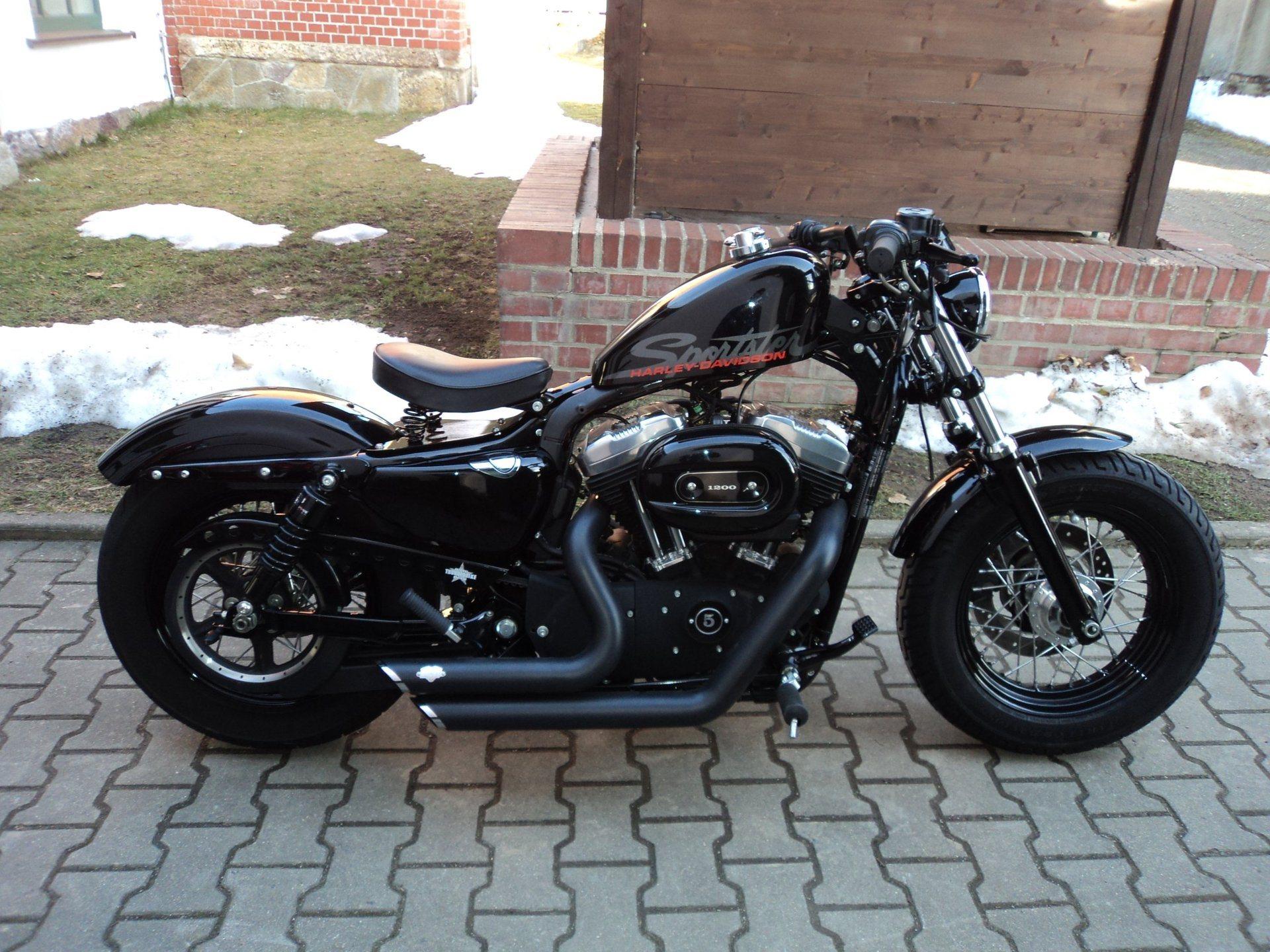 umgebautes motorrad harley davidson sportster custom 53. Black Bedroom Furniture Sets. Home Design Ideas
