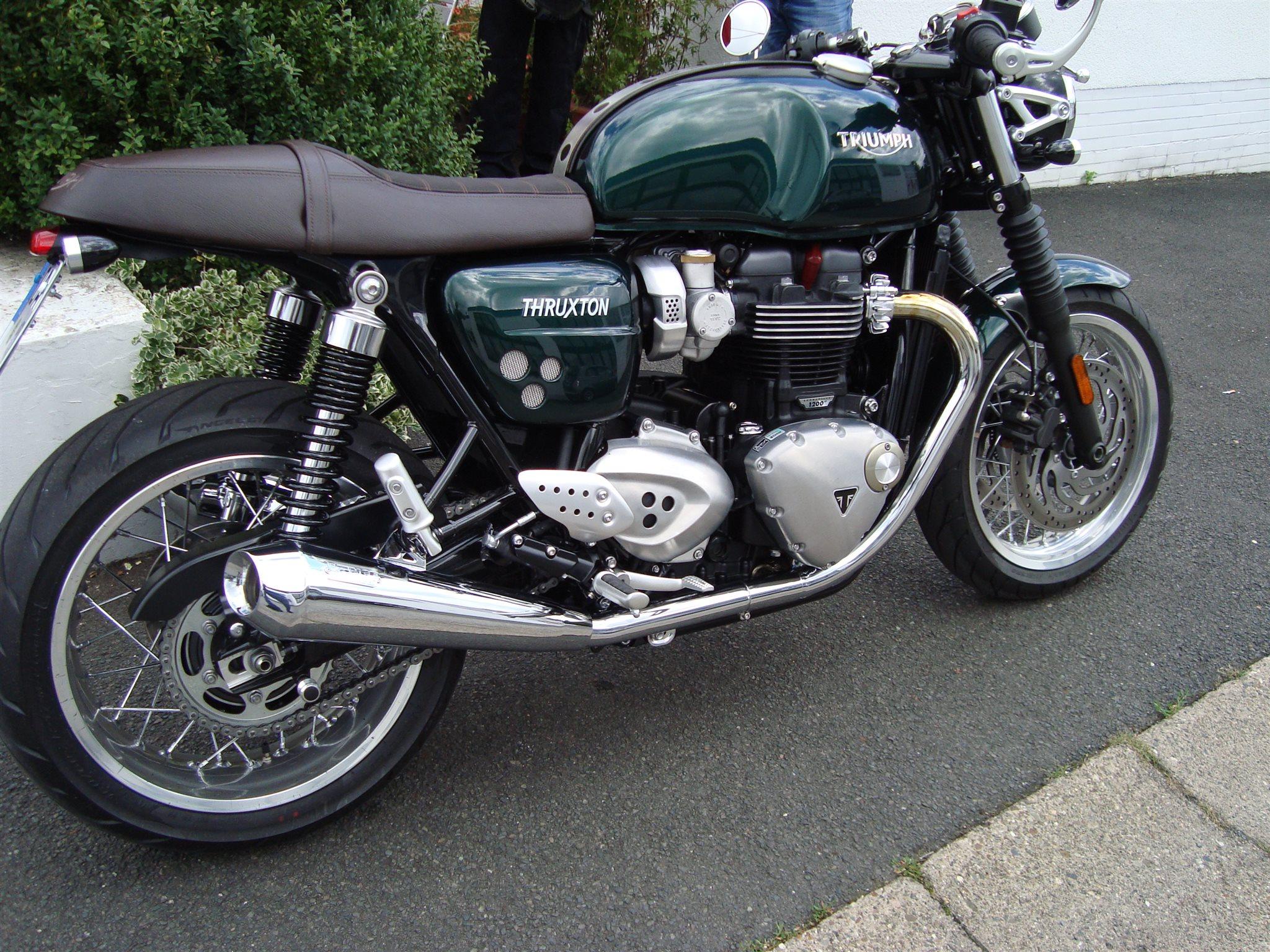umgebautes motorrad triumph thruxton 1200 von motorrad reinhardt kfz ohg. Black Bedroom Furniture Sets. Home Design Ideas