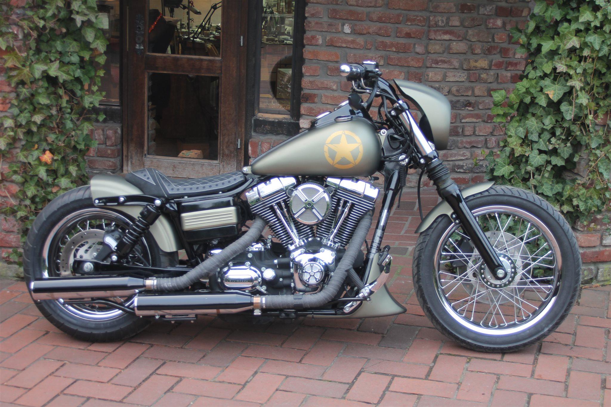 umgebautes motorrad harley davidson dyna low rider fxdl. Black Bedroom Furniture Sets. Home Design Ideas