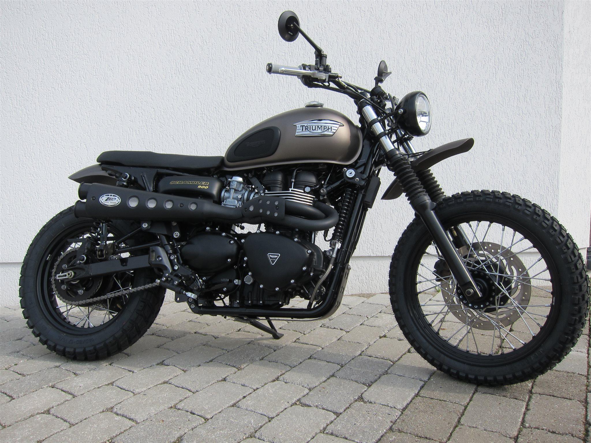 umgebautes motorrad triumph scrambler von viking cycles. Black Bedroom Furniture Sets. Home Design Ideas