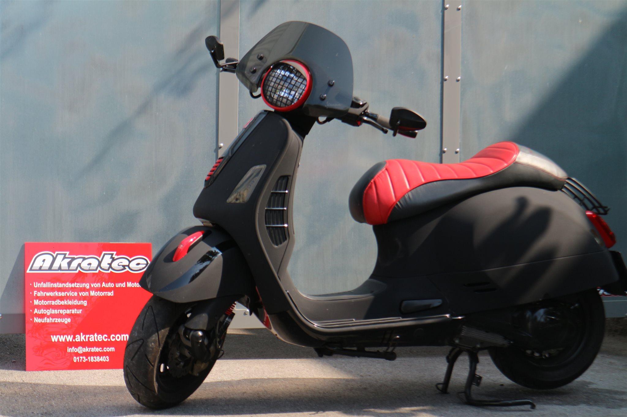 umgebautes motorrad vespa gts 125 i e super sport von. Black Bedroom Furniture Sets. Home Design Ideas