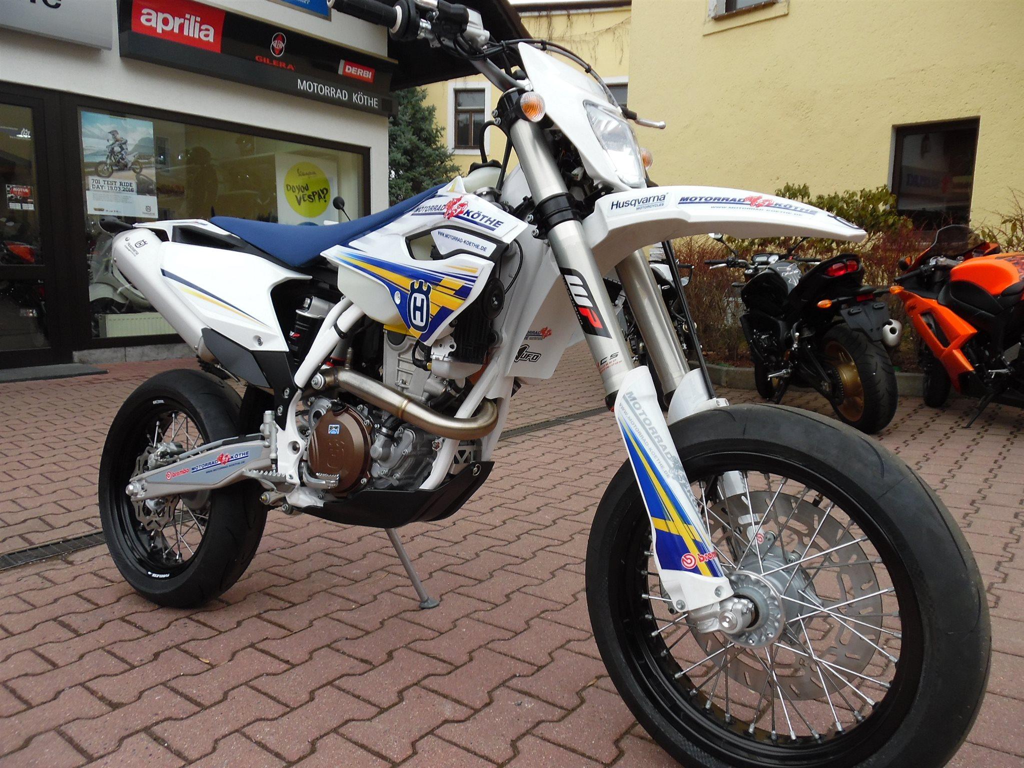 Umgebautes Motorrad Husqvarna FE 501 von Motorrad Köthe ...