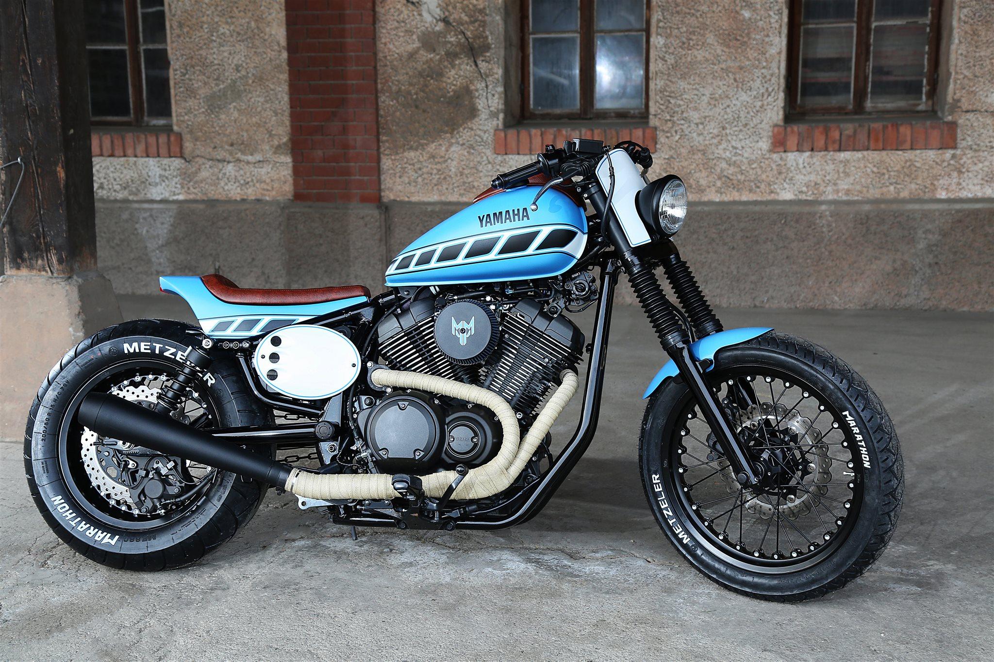 umgebautes motorrad yamaha xv 950 r von maurer motos ag. Black Bedroom Furniture Sets. Home Design Ideas