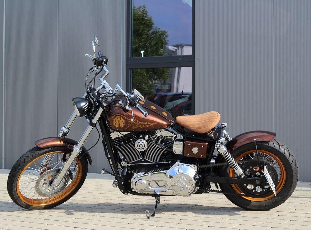 umgebautes motorrad harley davidson dyna wide glide fxdwg. Black Bedroom Furniture Sets. Home Design Ideas