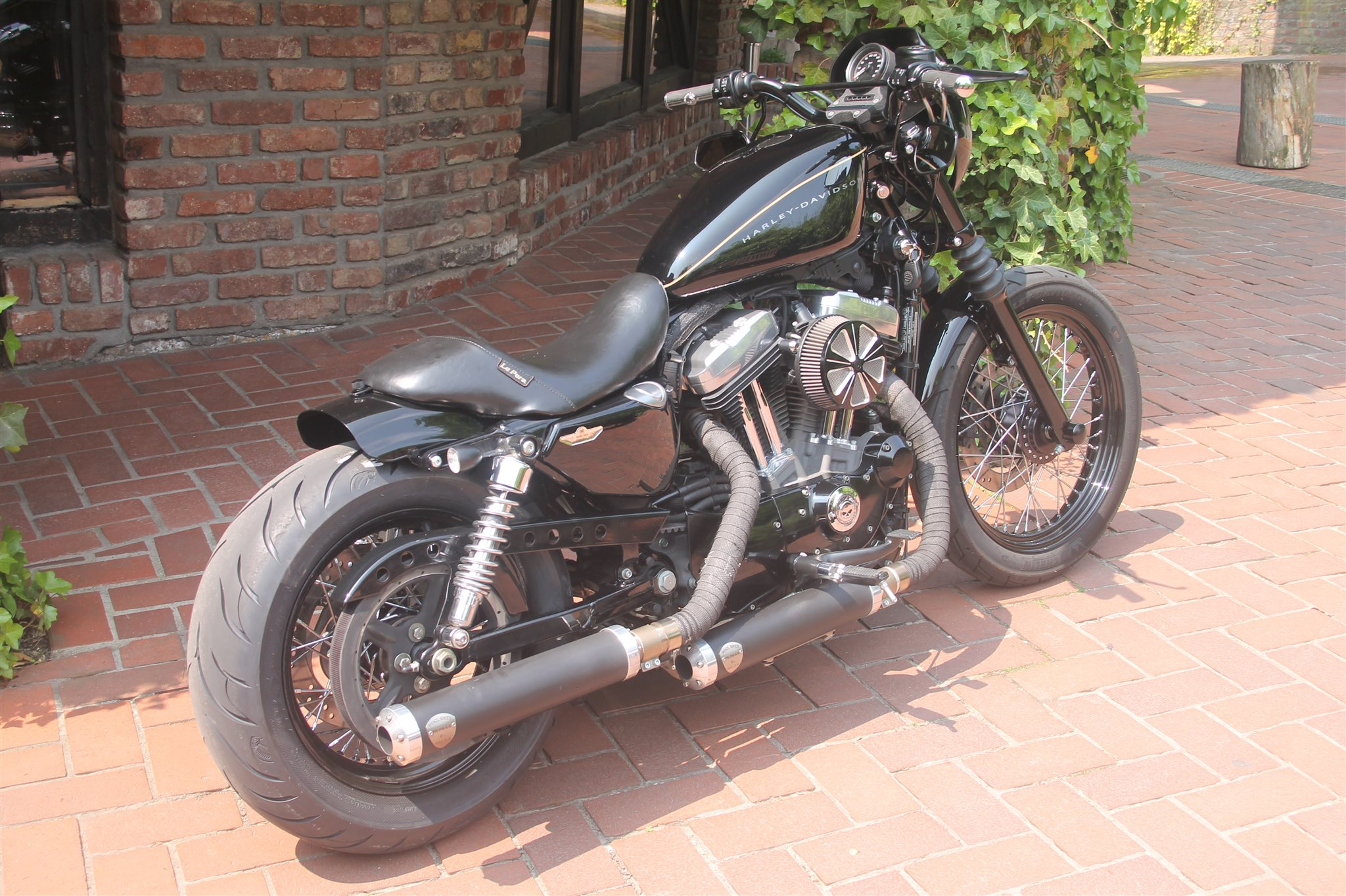 Umgebautes Motorrad Harley Davidson Sportster Xl 1200 N Nightster Von X Trem Lotter Harley Import Custombikes 1000ps De
