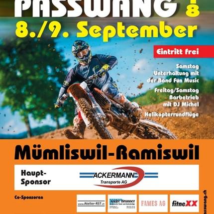Motocross Passwang Barbetrieb Freitag 7. September Rennen Samstag 8. und Sonntag 9. September