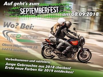 Motorrad Termin Kawasaki Septemberfest 2018