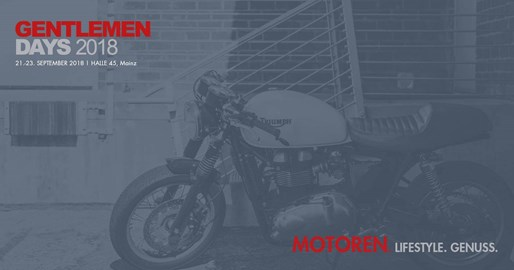 Motorrad Termin Gentlemen Days 2018 in der Halle 45 in Mainz
