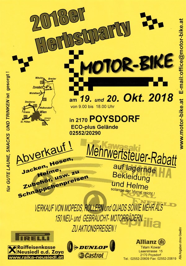 HERBSTPARTY bei MOTOR-BIKE in Poysdorf