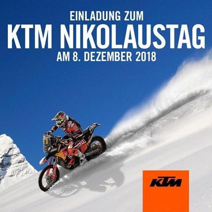 KTM NIkolaustag und KTM Powerdays am 08.12.2018 Unser jährlicher Nikolaustag findet dieses Jahr am Samstag den 08.12.18 statt. Von 09:30 Uhr bis 15:00 Uhr könnt ihr wie gewohnt mit selbstgemachte...