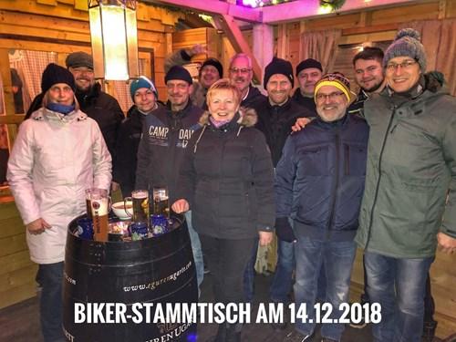 Biker-Stammtisch auf dem Weihnachtsmarkt