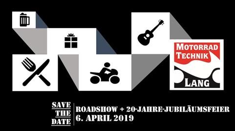 Motorrad Termin Roadshow + 20-Jahre-Jubiläumsfeier