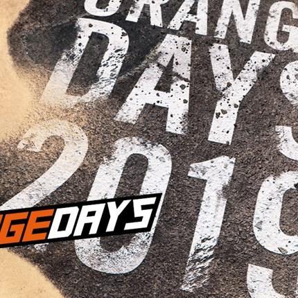 KTM ORANGEDAYS 2019 KTM ORANGE DAYS 2019 - 06. April 2019Egal ob im Gelände oder auf Asphalt - mit den neuesten KTM-Modellen beherrschst Du jeden Untergrund. Die KTM O...