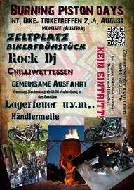 Motorrad Termin Burning piston days 2019 - Int. Bike- und Triketreffen