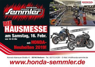 Motorrad Termin Honda Semmler - Hausmesse 2019