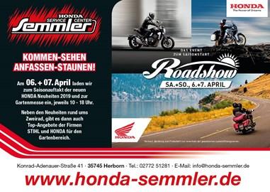 Motorrad Termin Honda Semmler - Honda Road Show / Gartenmesse