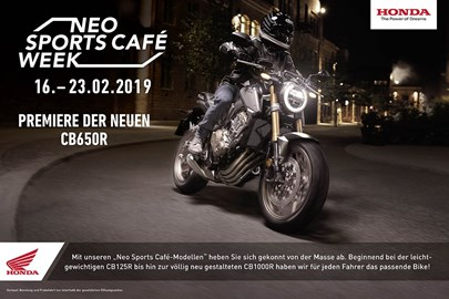 Motorrad Termin Neo Sports Cafe Week 2019