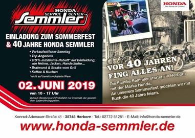 Motorrad Termin Honda Semmler - Sommerfest 2019