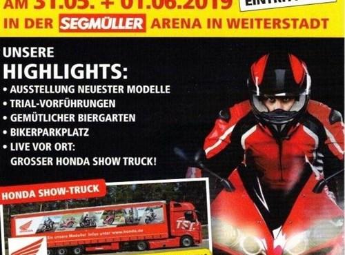 Motorrad-Ausstellung beim Segmüller