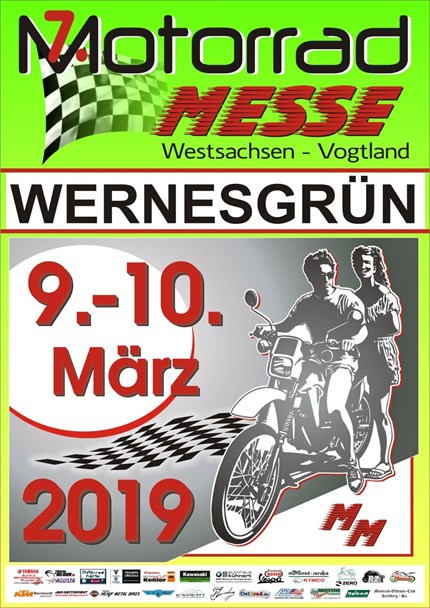 7. Motorradmesse Wernesgrün Motorradmesse zum siebten Mal ! Westsachsen-Vogtland in Wernesgrün ! Die Saison steht vor der Tür und wenn das Wetter nicht ganz verrückt spielt, e...