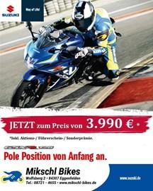 Motorrad Termin GSX-R 125 Test Wochen