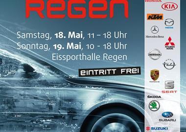 Motorrad Termin Autoausstellung Eissporthalle Regen