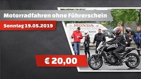 Motorrad Termin Motorradfahren ohne Führerschein bei Fischer & Böhm in Solingen