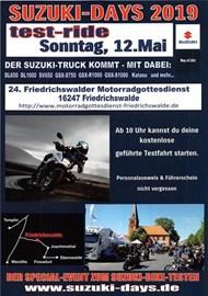 Motorrad Termin 24.Bikergottesdienst 12.05.19 in Friedrichswalde