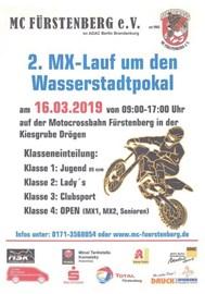 Motorrad Termin 2. MX-Lauf um den Wasserstadtpokal auf der Motorcrossbahn in Fürstenberg