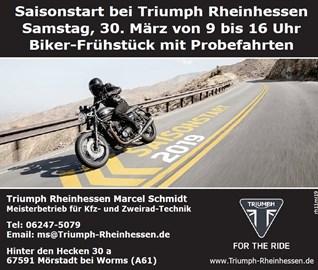 Motorrad Termin Saisonstart mit Bikerfrühstück