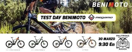 TEST DAY BENIMOTO / MEGAMO Lugar: Palitroke Ranch OmellonsModalidad: Bicicleta-BTT E-BikesFecha: 30 MarzoHora: 9:30 amPlazas: 40En que consiste?Organizamos un Test con una de...